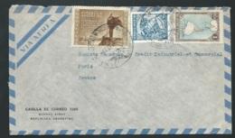 Argentine - Lsc Pour Paris  , Yvert   N° 505, 448, 512  Oblitéré En 1952   - Lx1305 - Argentina