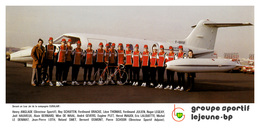 CARTE CYCLISME GROUPE TEAM LEJEUNE BP 1976 FORMAT 10,5 X 22 - Radsport