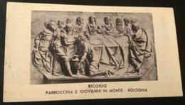 """Antico Santino - Holy Card """" Ricordo Parrocchia Di S.Giovanni In Monte Bologna """" - Religione & Esoterismo"""