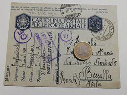 2883) FRANCHIGIA POSTA MILITARE 40 Russia 1-1-1942 X Busalla Genova - 1900-44 Vittorio Emanuele III