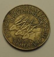 1958 - Afrique Equatoriale Française - Cameroun - French Equatorial Africa - 10 FRANCS - KM 11 - Cameroun