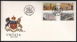 Transkei Umtata 1982 / 100th Anniversary Of Umtata / City Hall, Bunga, Botha Sigcau Building, Palace Of Justice / FDC - Transkei