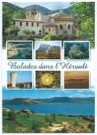 Balades Dans L'Hérault -Multivues (St Guilhem Le Désert, Larzac, Pic St Loup,Bassin De Thau,Cirque...) -Scan Recto-Verso - Frankrijk