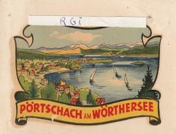 Portschach Am Worthersee---autriche----decalcomanie--(9 X 7 Cm) - Vieux Papiers