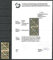 Estland Estonia Michel 43 B As A Pair. Original Stamps With Private Perforation O - Estland