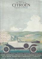 Publicité CITROEN Automobile Traction LA 10 H.P. Torpédo 4 Places Cachet Certifié D'époque 1921 - Affiches