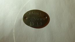 Plaque D'identité De RAUGE Bernard, 22 RAC, 271 RAC, 53 RAC, 20 SEM - 1914-18
