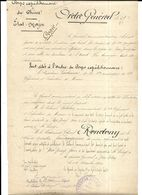 Indochine- 1909- Etat Major-Corps Expéditionnaire  De Chine - Citation à L Ordre  D'officier Dont Lecolonel Rondony - Documents
