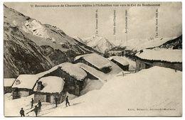 CPA * Reconnaissance De Chasseurs Alpins à L'Echaillon Vue Vers Le Col Du Bonhomme - Manoeuvres