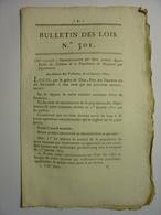 BULLETIN DES LOIS De JANVIER 1822 - POPULATION DU ROYAUME PAR DEPARTEMENT POUR 1821 - RECENSSEMENT - LETTRES PATENTES - Décrets & Lois