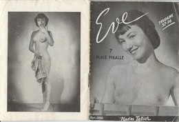 Ref A297- Programme Eve Place Pigalle - Paris 9eme -erotique -erotisme -danseuses Nues - Nus- Nu -nude -nudes - - Programmes