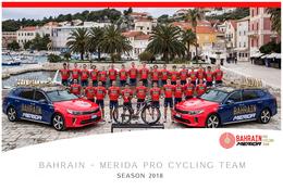 CARTE CYCLISME GROUPE TEAM BAHRAIN 2018 ¡¡ RARE !! - Cyclisme