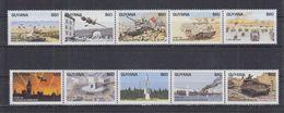 Guyana - Scènes De La 2e Guerre Dans Le Monde, Normandie, Paris - 10 Val Neufs // Mnh - Guerre Mondiale (Seconde)