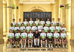 CARTE CYCLISME GROUPE TEAM DIMENSION DATA 2018 ¡¡ RARE !! - Cyclisme