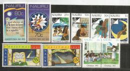 Années 1990-1991-1993, 4 Séries.  10 Timbres Neufs **  Côte 30,00 Euro - Nauru