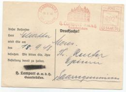 SAARBRUCKEN - ST. JOHANN - LAMPERT - SAAR - Sarreguemines - 1948 - POST SAAR - 1947-56 Occupazione Alleata