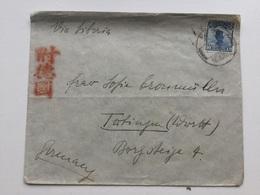 SH932 China Chine 1925 Brief Von Trungkun Nach Tübingen - 1912-1949 Republik