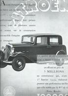 Publicité CITROEN Automobile Traction Petite Rosalie Cachet Certifié D'époque 1934 - Affiches