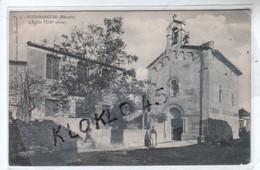 34 BUZIGNARGUES ( Hérault ) - L'Eglise  - Animé Femme Dans La Rue - Vue De Profil  - CPA  Cliché Alexandre   Généalogie - France