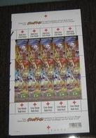 Belgie 3163/65** Red Cross Stampilou BD Comics Strips F3163/65 Full Sheet Plaatnummer 2 (datum 11/  /  ) - Feuilles Complètes