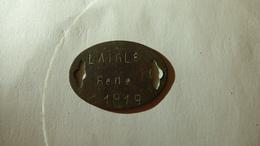 Plaque D'identité De LAIGLE René, 15e BCP - 1914-18