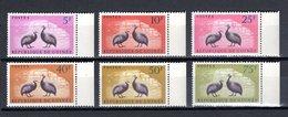 GUINEE N° 63 à 68  NEUFS SANS CHARNIERE COTE 6.50€  ANIMAUX OISEAUX - Guinée (1958-...)
