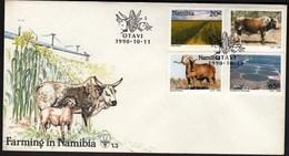 Namibia Otavi 1990 / Farming / Corn, Cow,Sheep / FDC - Namibie (1990- ...)