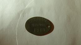 Plaque D'identité De LAMOURET Maurice, 11 RAC, 30 RAC, 13 RAC, 21 RAC, 8 RG, 205 RAC - 1914-18