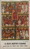 """Santino Holy Card """" 22 BEATI MARTIRI Dell'UGANDA """" Dipinto A.Wider - Religione & Esoterismo"""