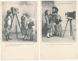 ENFANTS, Les Petits Photographes , Photographie - Série Complète De 6 CPA - Scenes & Landscapes