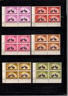 GUINEE N° 63 à 68 BLOCS DE QUATRE  NEUFS SANS CHARNIERE COTE 26.00€  ANIMAUX  OISEAUX - Guinée (1958-...)