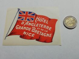 2916) Etichetta Hotel Albergo D'ANGLETERRE ET DE LA GRAN BRETAGNE NICE FRANCIA - Etiquettes D'hotels