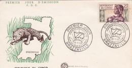 Congo  FDC Obliteration Brazzaville-- 26 11 1959 - FDC