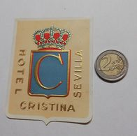 2920) Etichetta Hotel Albergo CRISTINA SEVILLA Spagna - Etiquettes D'hotels