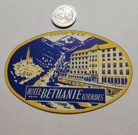 2922) Etichetta Hotel Albergo BETHANIE LOURDES FRANCIA - Etiquettes D'hotels