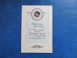 CPA FANTAISIE THANKSGIVING GREETINGS - Thanksgiving