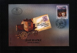 Yugoslavia / Jugoslawien / Yougoslavie 1994 Stamp Day - Post Coach FDC - Post