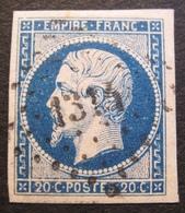 R1606/39 - NAPOLEON III N°14Aa Bleu Foncé - LUXE - PC 1314 : FORMERIE (Oise) INDICE 4 - 1853-1860 Napoléon III