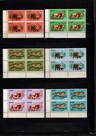 GUINEE N° 105 à 110 BLOCS DE QUATRE  NEUFS SANS CHARNIERE COTE 36.00€  ANIMAUX - Guinée (1958-...)