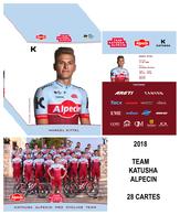 CARTES CYCLISME TEAM KATUSHA - ALPECIN 2018 ( 28 CARTES ) - Radsport
