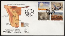 Namibia Windhoek 1991 / Centenary Of The Weather Service / Meteorology /  / FDC - Namibia (1990- ...)