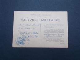CONVOCATION AU SERVICE MILITAIRE - Historical Documents