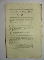 BULLETIN DE LOIS 1811 - POMPES FUNEBRES TARIFS INHUMATIONS - HOLLANDE VIANDE MILITAIRES - PERTUIS VAUCLUSE - SEDAN - Décrets & Lois