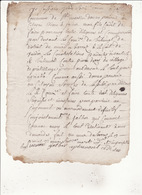 Manuscrit Concerne Le Tribunal Du District De Mur De Barrez Aveyron Dos Cachet Minute - Manoscritti