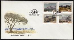 Namibia Keetmanshoop 1991 / Mountains / FDC - Namibie (1990- ...)