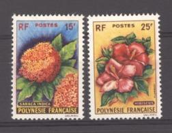 06931  - Polynésie  :  Yv  15-16  **    Fleur - Flower - Unused Stamps
