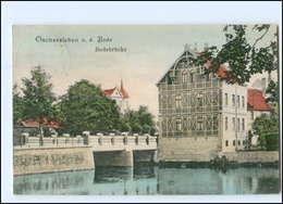 U4393-393./ Oschersleben Bodebrücke 1914 AK - Deutschland