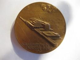 Medaille Inauguration De L Aéroport D Orly 1961 AÉROPORT DE PARIS , Par Dropsy - France