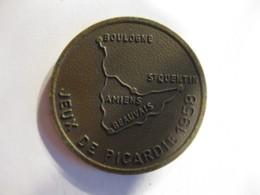 Medaille Jeux De Picardie 1958 , Amiens 12.13.14 Juillet 1958 - France