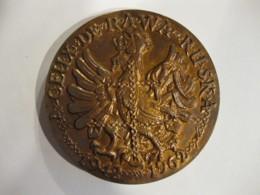 Medaille A CEUX DE RAWA RUSKA , 20eme Anniversaire 1942 1962  ,par J. A. Devigne. - France
